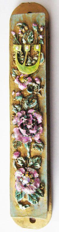 New Mezuzah Marble Handmade Art  Swarovski by IrinaSmilansky, $29.99