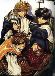 Saiyuki Reload Gunlock ~~~ Hakkai is the only responsible driver available. Like usual.
