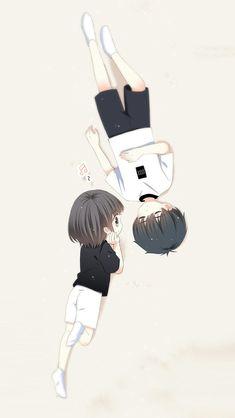 Love Never Fails Manga Cute Chibi Couple, Cute Couple Art, Anime Love Couple, Cute Couple Drawings, Anime Couples Drawings, Anime Couples Manga, Anime Cupples, Anime Chibi, Kawaii Anime