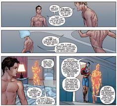 Fantastic Four: TWGCM - Civil War II - Amazing Spider-Man 001: FFull FFrontal nudity