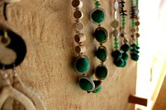 """A touch of green Balungi Necklaces   """" Certain things catch your eye, but pursue only those that capture your heart """"  ...The Balungi flagship Store is slowly taken over by blue and green and  a touch of silver...Moreover Balungi """"HEART YOU.""""...blue is the new red for valentine!"""