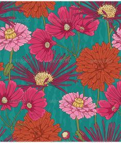 Floral Seamless Pattern ... <p>Seamless pattern with beautiful flowers in watercolor style</p> background, blossom, blue, botanic, branch, decoration, decorative, design, floral, flower, green, growth, illustration, leaf, nature, orange, paper, pattern, petal, pink, plant, seamless, season, spring, summer, textile, vector, wallpaper, wrapping, yellow