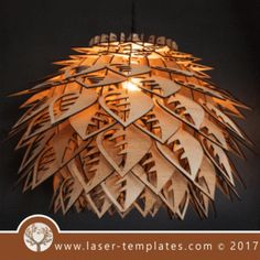 Lampshade template. Laser cut online store, download pattern.