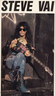 The guitar legend Steve Vai