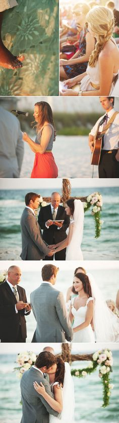 ee photography | dallas wedding photographer | ee photography blog | dallas wedding photographer | bride and groom | beach ceremony | sunset wedding | waterfront ceremony