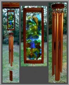 Glass and Copper Garden Chimes and Suncatchers