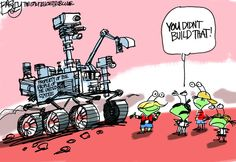 """""""The Red Planet""""  This Pat Bagley editorial cartoon appears in The Salt Lake Tribune on Sunday, Aug. 19, 2012."""