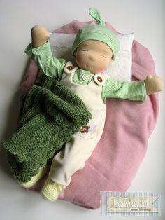 Waldorf inspired baby doll by Lalinda.pl