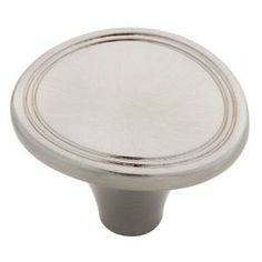 Venue 1-3/7 in. Satin Nickel Round Cabinet Knob-P17887H-SN-C at The Home Depot