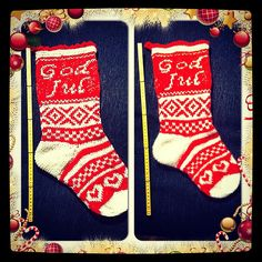 FREE on Ravelry.Julestrømpe pattern by Lill C. Pattern in Norwegian. Knitted Christmas Stockings, Christmas Knitting, Knitting Projects, 4th Of July, Ravelry, Free Pattern, Finding Yourself, Xmas, Valentines