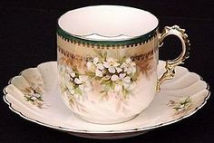 •.¸.•´ ` ❤☆.¸.☆ *❤•.¸.•´ `•.¸.•´ RS Prussia Mustache Cup  Saucer•.¸.•´ ` ❤☆.¸.☆ *❤•.¸.•´ `•.¸.•´