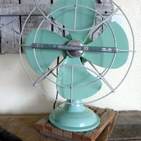 1960 - Westinghouse fan - they made a lot of noise. Somehow, those of us who were children during the '60s knew enough not to stick our fingers in the fan.  Those metal blades would have amputated little fingers.