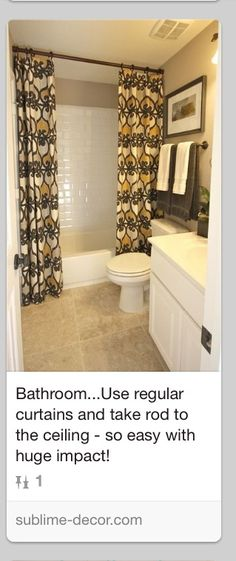 Shower curtain idea                                                                                                                                                      More