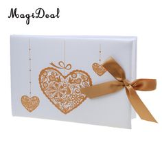 MagiDeal Wedding Guest Book Gold Love Heart Bowknot Elegant Ceremony Engagement Party Guestbook Album Gift Baby Shower Decor-in Party DIY Decorations from Home & Garden on Aliexpress.com | Alibaba Group Diy Party Decorations, Baby Shower Decorations, Baby Shower Gifts, Baby Gifts, Wedding Guest Book, Love Heart, Guestbook, Engagement, Elegant
