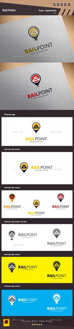 Rail Point Logo Template — Photoshop PSD #stars and stripes #isolated • Available here → https://graphicriver.net/item/rail-point-logo-template/10050006?ref=pxcr