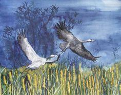 Unsere verkauften Bilder 2012 | Bilder, Aquarelle vom Meer & mehr - von Frank Koebsch #Aquarelle #watercolors #Kraniche #cranes