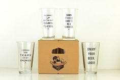 Pint Glass Party Pack - Set of Four - Meriwether of Montana  - 1