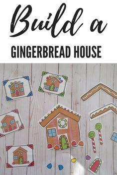 Build a Gingerbread House- Preschool Preschool Christmas, Christmas Activities, Christmas Themes, Christmas Crafts, Gingerbread Man Activities, Gingerbread Men, Kindergarten Crafts, Preschool Crafts, Name Crafts