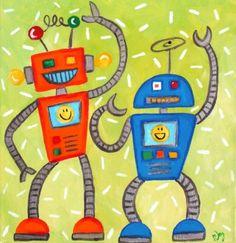 #1498 - Robots - Uptown Art Uncorked - Sussex, Wi