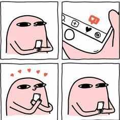 Funny Iphone Wallpaper, Mood Wallpaper, Cute Memes, Stupid Funny Memes, Cute Comics, Funny Comics, 4 Panel Life, Cute Cartoon Wallpapers, Comedy