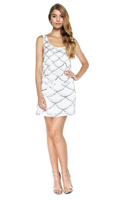 Nicole Miller embroidery dress grey gold classy cocktail dress ...