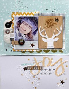 #papercraft #scrapbook #layout. Joy by MelBlackburn at @Studio_Calico