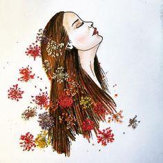 #inspiration #floral #inspirationfloral #flower #woman #art #painting #artwork #artsy #drawing #lush #hair #illustration #nature #love #sketch @instagram @natgeocreative #whphairplay Sketch Instagram, Instagram Posts, Hair Illustration, Woman Art, Lush, Artsy, Drawings, Artwork, Nature
