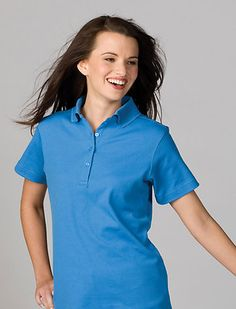 Women's Soft Stylish Plaited Hi Performance Polo Shirt. 5577 Description  62% Cotton/38% Polyester; 5.4 oz. wt, Dual bonded cotton and polyester fabric, Moisture wicking, Feminine silhouette, short sleeve and 4-button placket, Side vents and contrasting neck tape, Fade, shrink and wrinkle resistant, Laundry friendly.