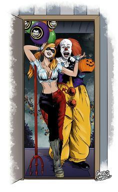 PENNYWISE AND HARLEY QUINN.