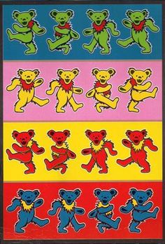 49 Best Jerry Bears Images Forever Grateful Grateful Dead Poster