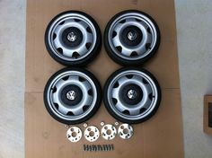 VW Transporter Steel Wheels 17 inch 5 x 120 - 4 x 100 Golf, Polo etc in Vehicle Parts & Accessories, Car Wheels, Tyres & Trims, Wheels with Tyres Volkswagen Golf Mk2, Vw Mk1, Volkswagen Transporter, T5 Transporter, Steel Wheels, Wheels And Tires, Vw T3 Doka, Vw Passat, Custom Cars