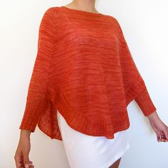 This is a printed pattern that requires shipping. More than a poncho, yet not quite a sweater, Veronika has a...