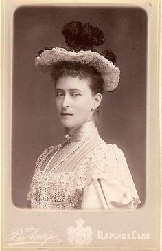 Grand Duchess Elisabeth Fyodorovna nee Pss Elisabeth of Hesse and by Rhine and also known for her nickname, Ella. Mids 1890s.