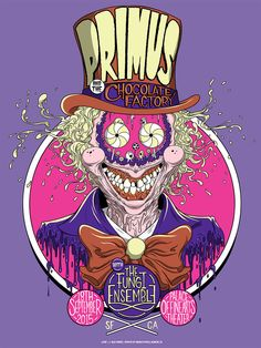 Primus Poster Series - San Francisco, CA by Alex Pardee Tour Posters, Band Posters, Music Posters, Retro Posters, Festival Posters, Concert Posters, Gig Poster, Alex Pardee, Horror Font