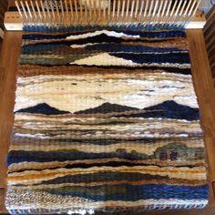 Peg Loom Yarn Rug