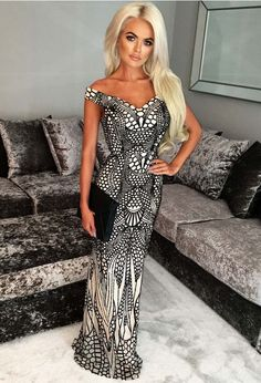 1bbbab987f10 Limited Edition Avella Black and Nude Sequin Bardot Maxi Dress | Pink  Boutique $97.17 Black Sequins