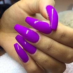 nails and purple image - Ongles 03 Sexy Nails, Dope Nails, Fancy Nails, Trendy Nails, Bright Nails, Purple Nails, Matte Nails, Acrylic Nails, Coffin Nails