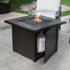 Bond A Lari Outdoor Gas Fire Pit Table With Antique Wooden - 30 inch fire pit table