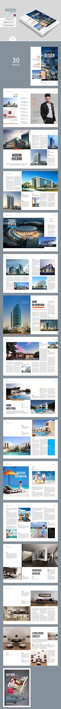 Simple Magazine Template by tujuhbenua on @creativemarket