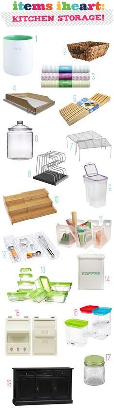IHeart Organizing: Items IHeart: Kitchen Storage!