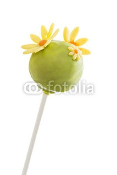 Cake Pop grün, Blumen, Frühling,
