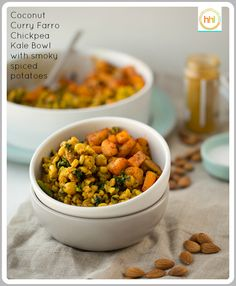 Coconut Curried Skillet Farro and Chickpeas with Smoky Potatoes
