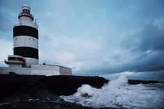 Waves crashing on the shore of Hook Head. #hookhead #ireland
