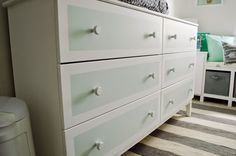 724 South House | Max's Itty Bitty Nursery! Tarva changing table/dresser.