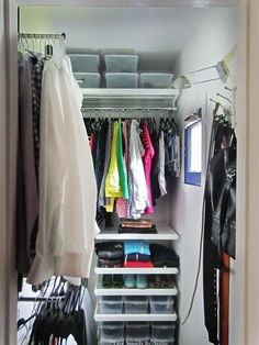 How To Maximize Deep Narrow Closet Space Pinteres - Cool diy coat rack for maximizing closet space