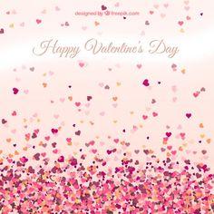 Cartão dos namorados com corações pequenos Vetor grátis