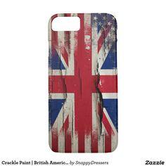Crackle Paint | British American Flag iPhone7 case