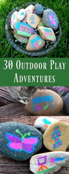 Outdoor Play Ideas for Kids | Fun summer activities | rock painting idea for kids