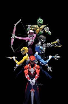 Mighty Morphin Power Rangers 2017 Annual (Cover B Dan Mora) Power Rangers 2017, Go Go Power Rangers, Power Rangers Tattoo, Power Rangers Poster, Power Rangers Comic, Mighty Morphin Power Rangers, Kamen Rider, Desenho Do Power Rangers, Ranger Verde