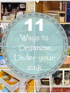 11 Ways to Organize Under Your Sink